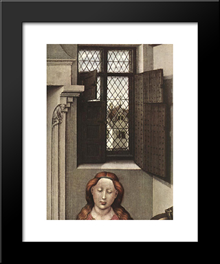 Madonna With The Child (Detail): Modern Black Framed Art Print by Robert Campin