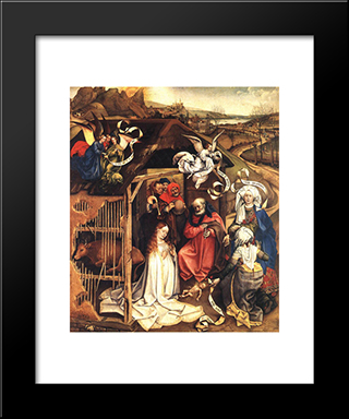 The Nativity: Modern Black Framed Art Print by Robert Campin