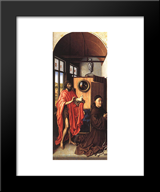 The Werl Altarpiece (Left Wing): Modern Black Framed Art Print by Robert Campin