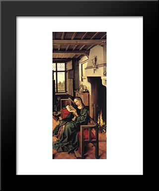 The Werl Altarpiece (Right Wing): Modern Black Framed Art Print by Robert Campin