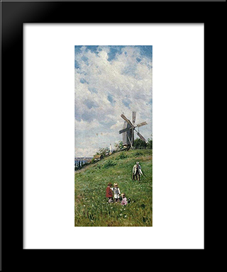 Summer: Modern Black Framed Art Print by Vladimir Makovsky