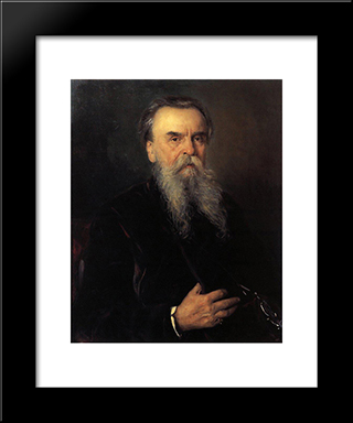 Portrait Of I. E. Tsvetkov: Modern Black Framed Art Print by Vladimir Makovsky
