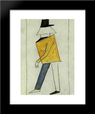 Coward: Modern Black Framed Art Print by Kazimir Malevich