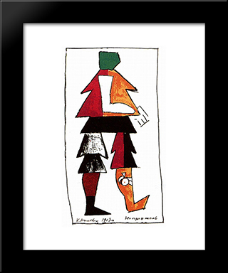 Enemy: Modern Black Framed Art Print by Kazimir Malevich