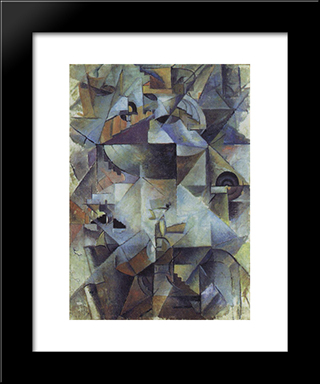 Samovar: Modern Black Framed Art Print by Kazimir Malevich
