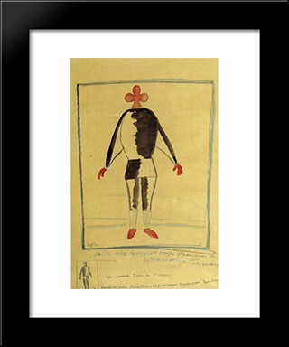 The Athlete Of The Future: Modern Black Framed Art Print by Kazimir Malevich