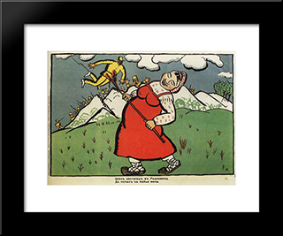 Austrian Went Into Radziwill: Modern Black Framed Art Print by Kazimir Malevich