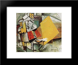 Guard: Modern Black Framed Art Print by Kazimir Malevich