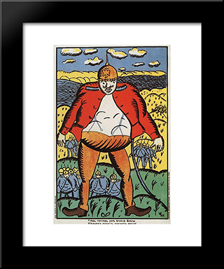 Look, Vistula Is Near Poster: Modern Black Framed Art Print by Kazimir Malevich