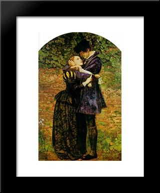A Huguenot, On St. Bartholomew'S Day, Refusing To Shield Himself From Danger By Wearing The Roman Catholic Badge: Modern Black Framed Art Print by John Everett Millais