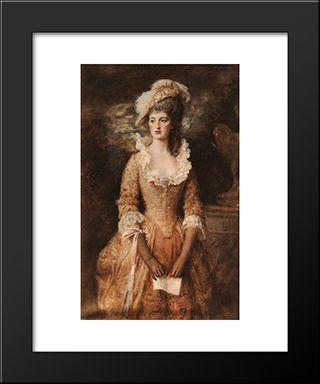 Female-Portraits: Modern Black Framed Art Print by John Everett Millais