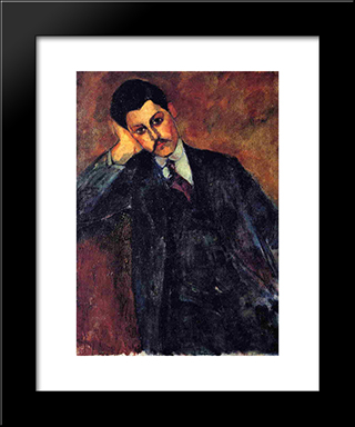 Jean Alexandre: Modern Black Framed Art Print by Amedeo Modigliani