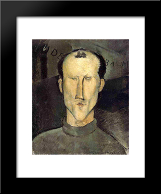Leon Indenbaum: Modern Black Framed Art Print by Amedeo Modigliani