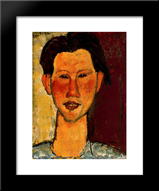 Portrait Of Chaim Soutine: Modern Black Framed Art Print by Amedeo Modigliani