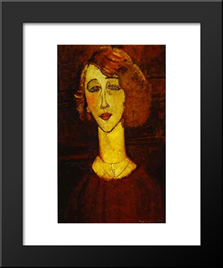 Lolotte: Modern Black Framed Art Print by Amedeo Modigliani