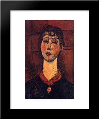Madame Dorival: Modern Black Framed Art Print by Amedeo Modigliani