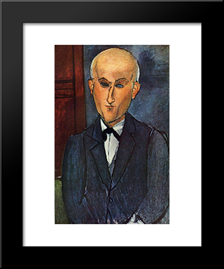 Max Jacob: Modern Black Framed Art Print by Amedeo Modigliani