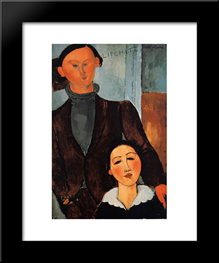 Acques And Berthe Lipchitz: Modern Black Framed Art Print by Amedeo Modigliani