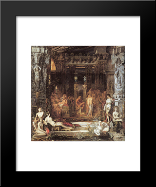 The Daughters Of Thespius: Modern Black Framed Art Print by Gustave Moreau