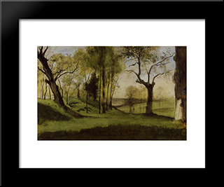View Of The Villa Borthese: Modern Black Framed Art Print by Gustave Moreau