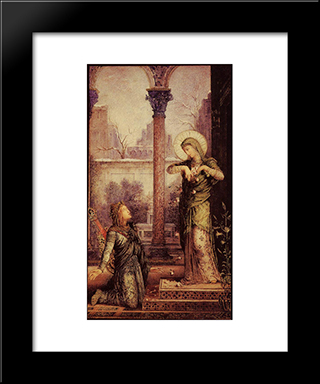 The Poet And The Saint: Modern Black Framed Art Print by Gustave Moreau