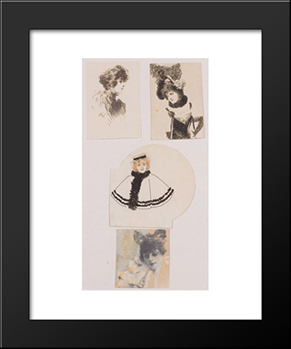 Illustration For The Viennese Fashion Magazine: Modern Black Framed Art Print by Koloman Moser