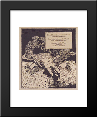 Iris. Illustration To A Poem By Arno Holz.: Modern Black Framed Art Print by Koloman Moser