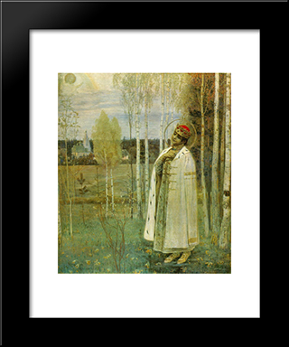 Tsarevich Dimitry: Modern Black Framed Art Print by Mikhail Nesterov