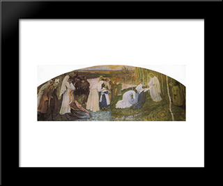 Way To Christ: Modern Black Framed Art Print by Mikhail Nesterov