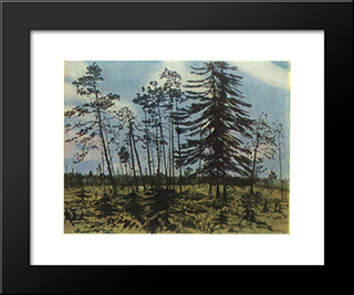 Finland With A Blue Sky: Modern Black Framed Art Print by Anna Ostroumova Lebedeva