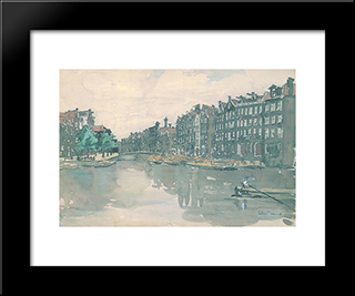 Amsterdam. The Market Of Iron.: Modern Black Framed Art Print by Anna Ostroumova Lebedeva
