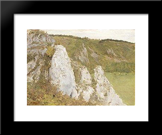 The Cliffs At The Lesse: Modern Black Framed Art Print by Pericles Pantazis