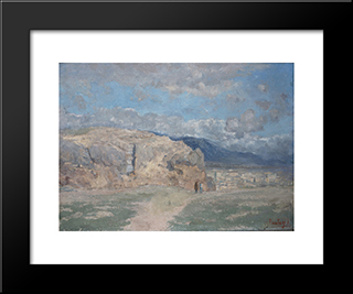 Supreme Court: Modern Black Framed Art Print by Pericles Pantazis