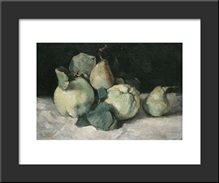 Still Life With Quinces: Modern Black Framed Art Print by Pericles Pantazis