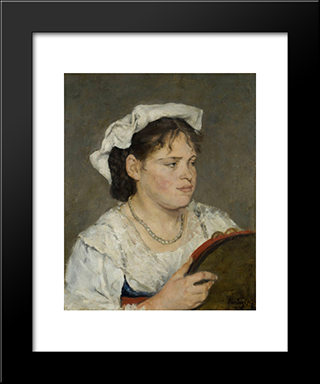 Dutch Girl: Modern Black Framed Art Print by Pericles Pantazis