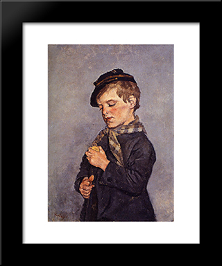 L'Enfant A La Toupie: Modern Black Framed Art Print by Pericles Pantazis
