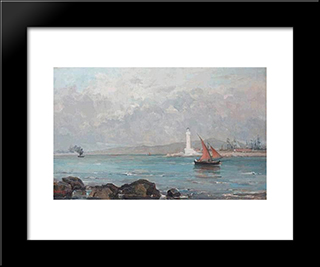 Lighthouse Of Marseille: Modern Black Framed Art Print by Pericles Pantazis