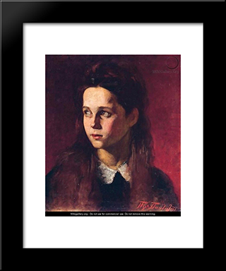 Girl: Modern Black Framed Art Print by Pericles Pantazis