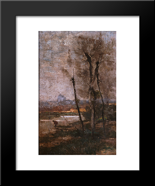 Landscape: Modern Black Framed Art Print by Pericles Pantazis