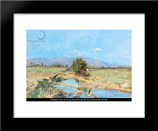 By The Stream: Modern Black Framed Art Print by Pericles Pantazis