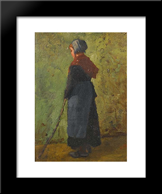 Little Shepherd Girl: Modern Black Framed Art Print by Pericles Pantazis