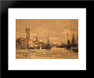 Ostend: Modern Black Framed Art Print by Pericles Pantazis