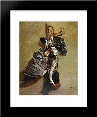 Still Life With Game: Modern Black Framed Art Print by Pericles Pantazis