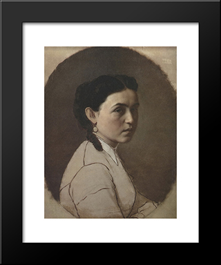 Portrait Of E.E. Perov: Modern Black Framed Art Print by Vasily Perov