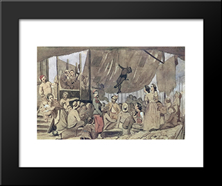 Parisian Promenade: Modern Black Framed Art Print by Vasily Perov