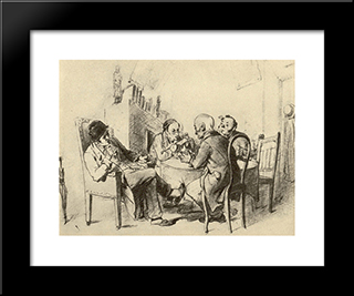Policy: Modern Black Framed Art Print by Vasily Perov