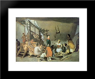 Merrymaking-In-Paris: Modern Black Framed Art Print by Vasily Perov