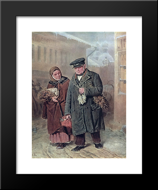 Lent Monday: Modern Black Framed Art Print by Vasily Perov