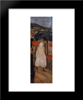 In The Veil: Modern Black Framed Art Print by Kuzma Petrov Vodkin