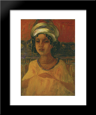 Kadusha: Modern Black Framed Art Print by Kuzma Petrov Vodkin